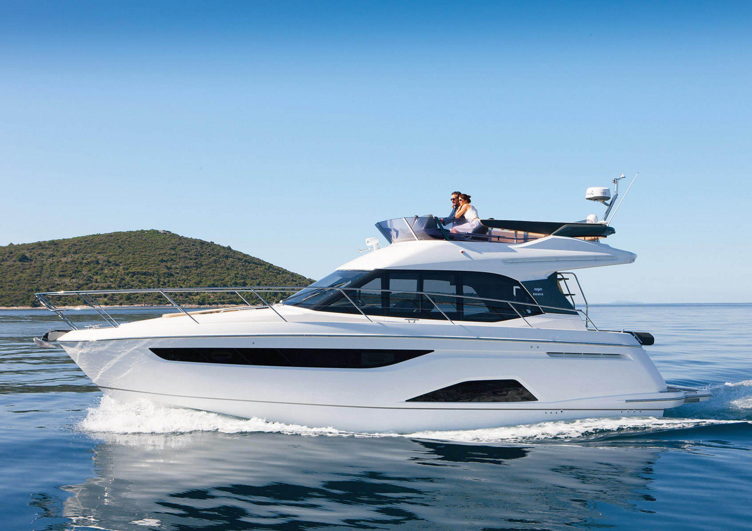 Exterior photo of the Bavaria R40 motor yacht