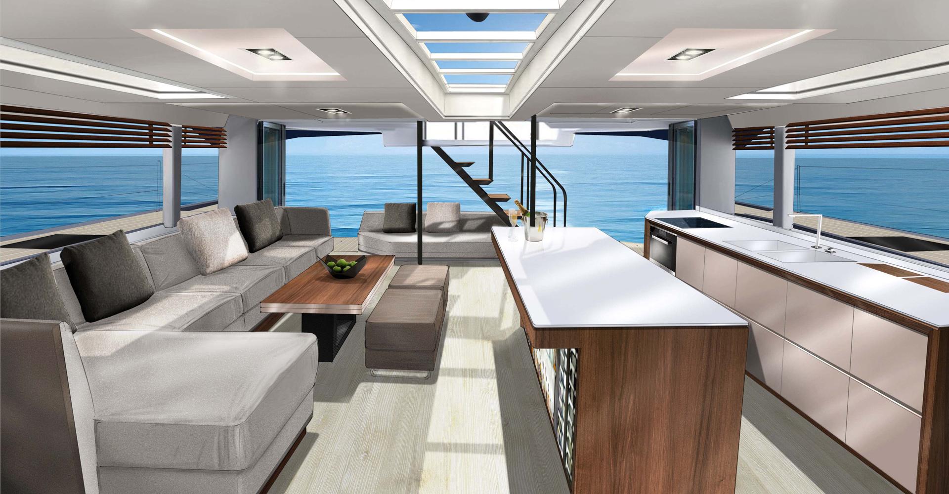 Interior design for the McConaghy catamaran range