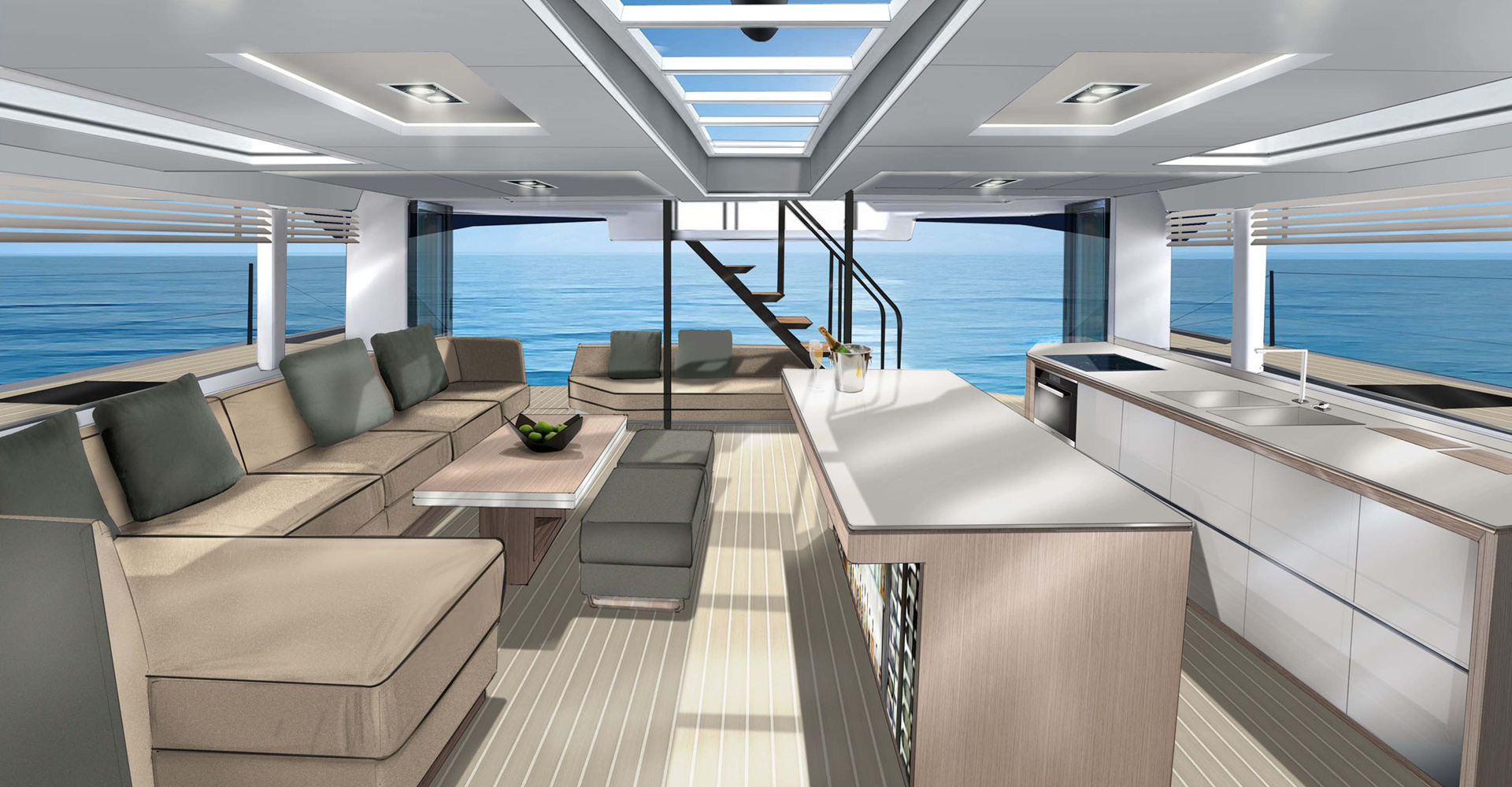 Interior designs for the McConaghy multihull range