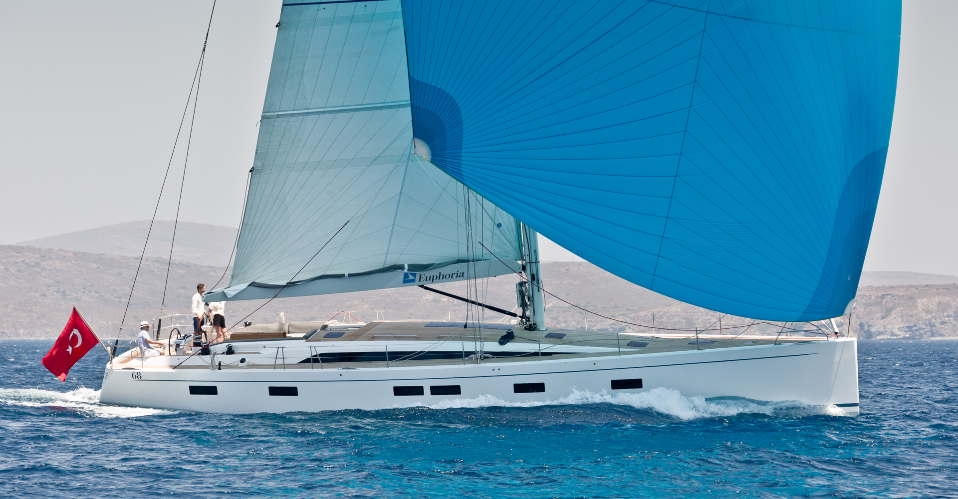 Sailing shot of the Euphoria 68