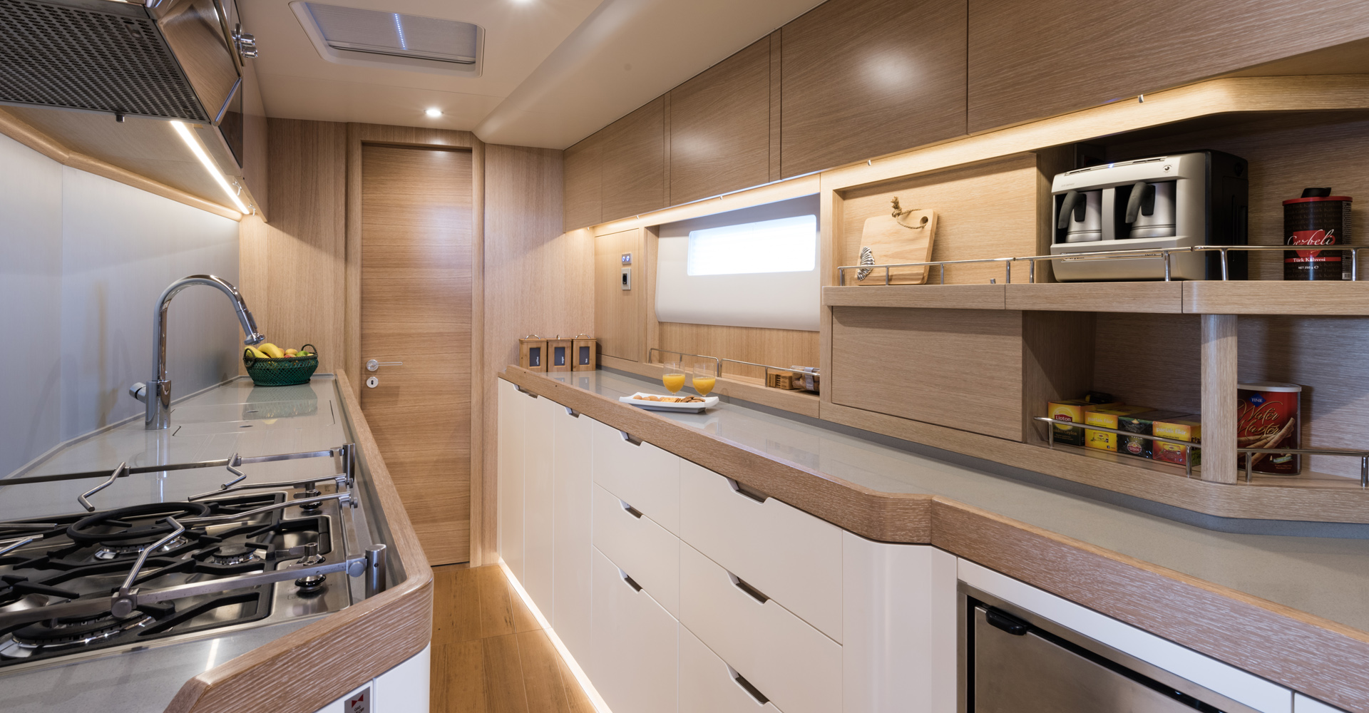 A sailing yacht galley