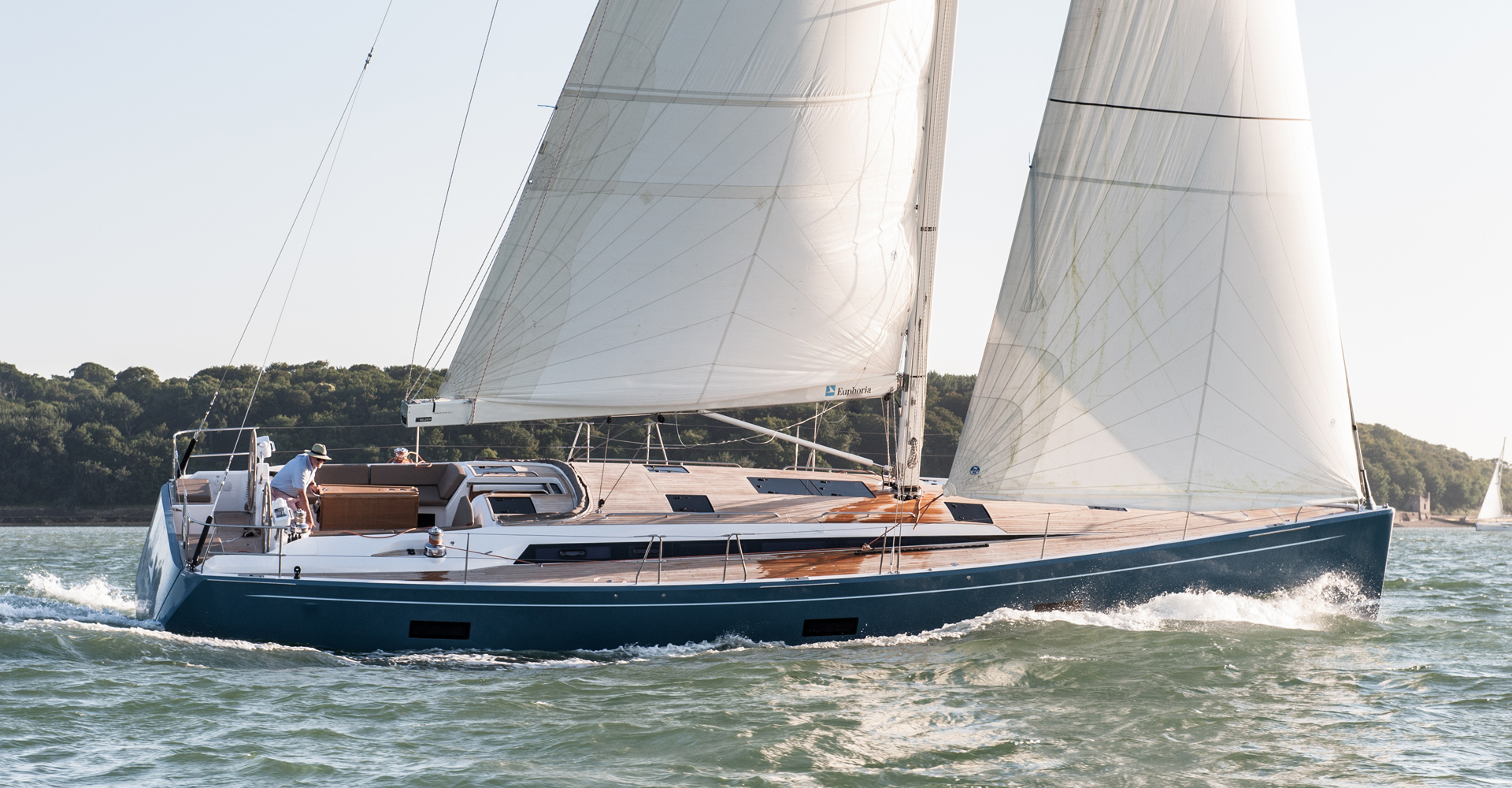 This sailing yacht was built by Sirena Marine
