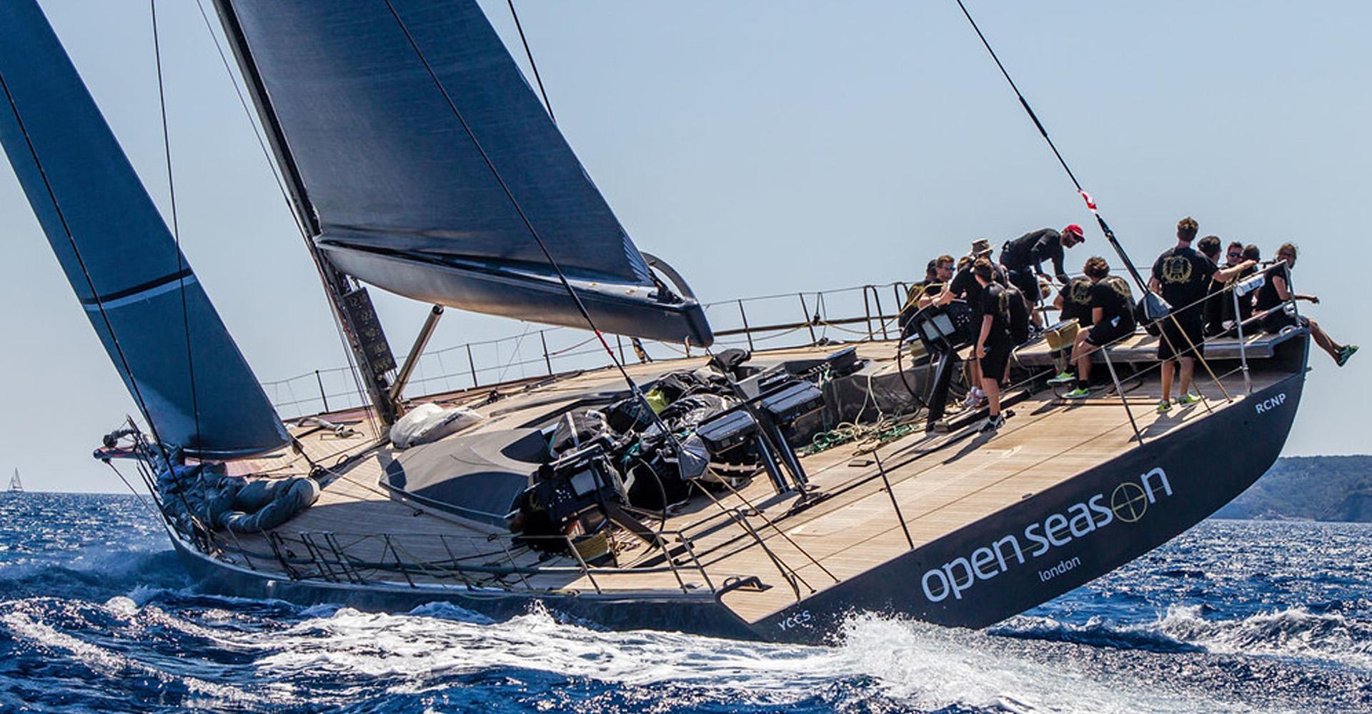 Sailing yacht Open Season heeling