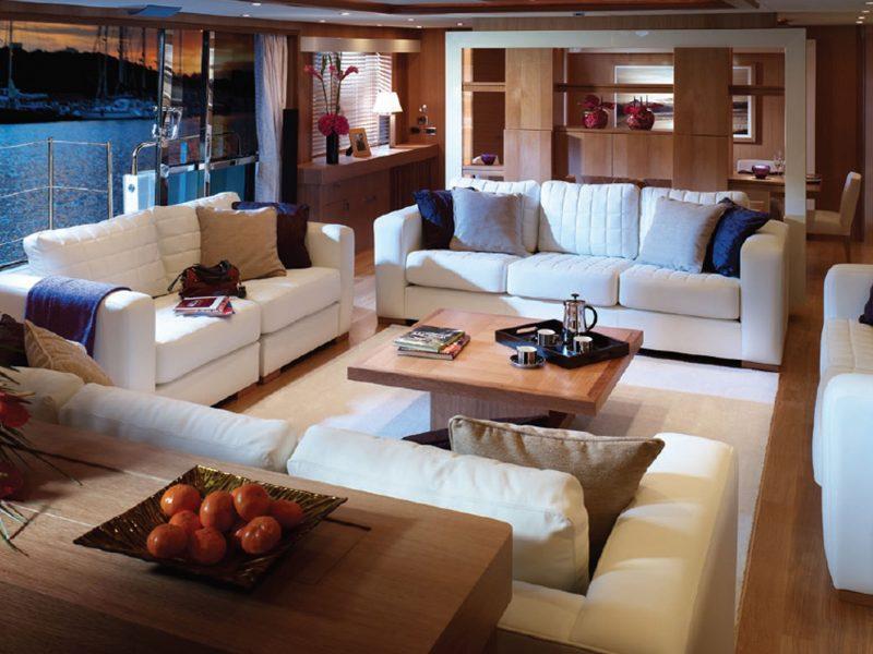 Older interior designs for Sunseeker motor yachts