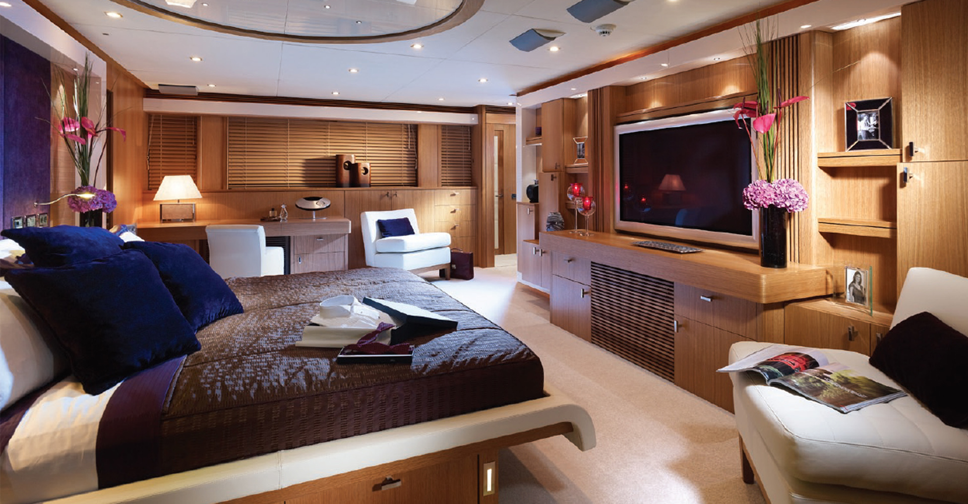 The previous master suite of a Sunseeker Predator