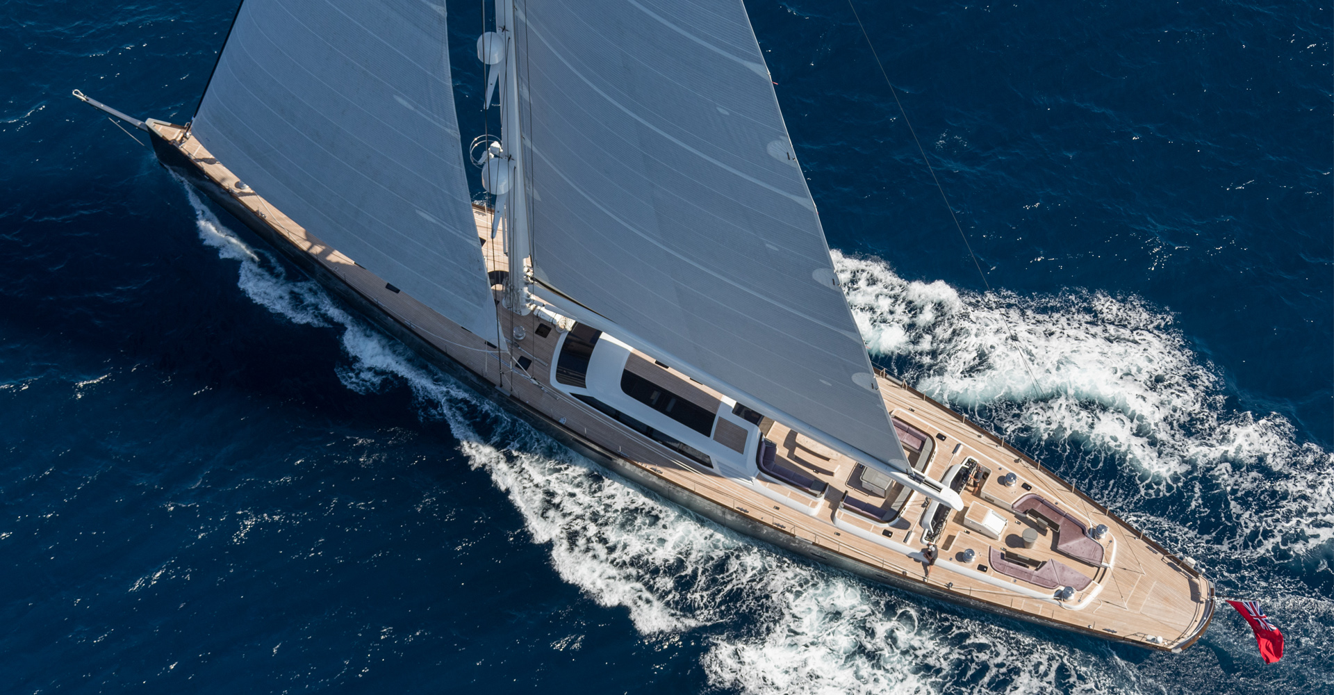 Aerial photo of Sailing Yacht Pink GIN