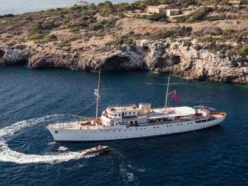 Aerial photo of motor yacht Shemara