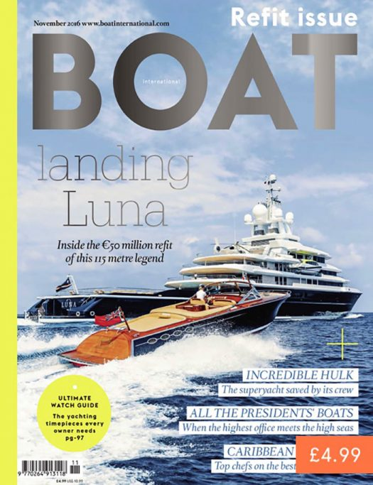 Front cover of Boat International magazine