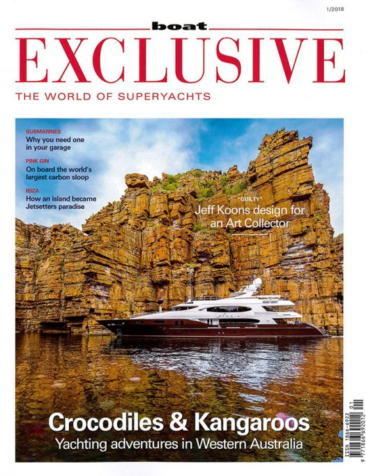 Front cover of Boat Exclusive magazine