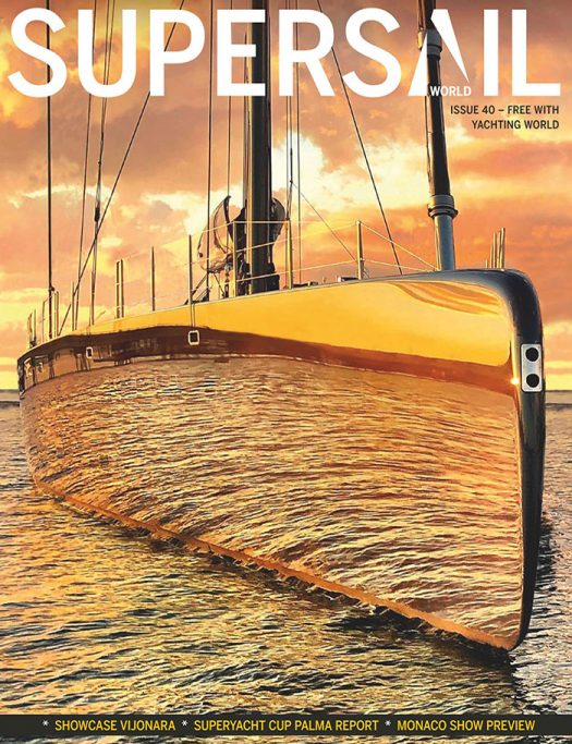 Front cover or SuperSail World magazine