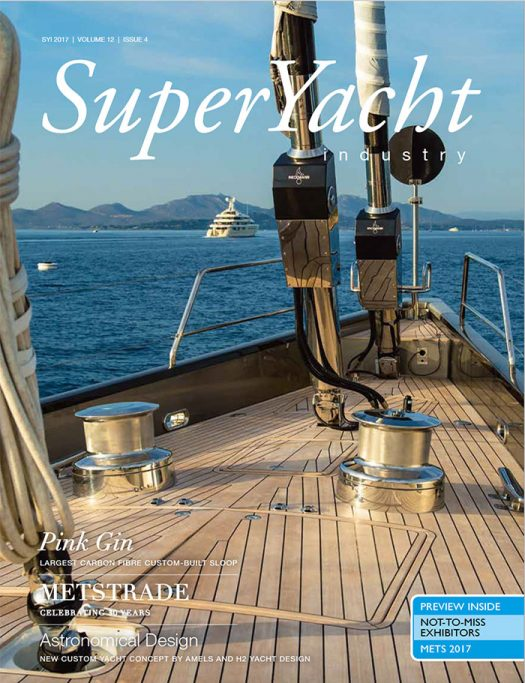 Front cover of Superyacht Industry magazine