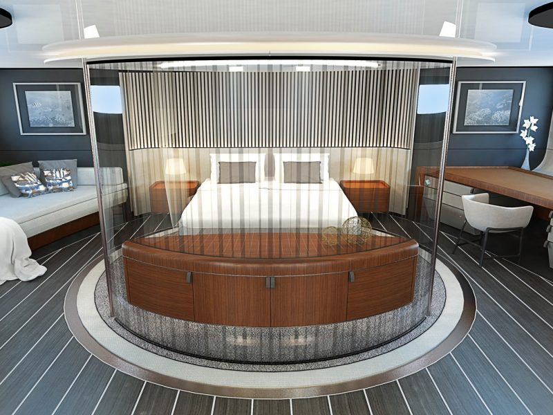 Concept master cabin for a 50m sailing superyacht