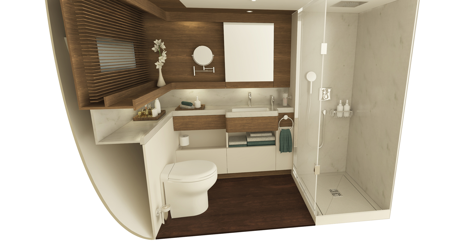 Bathroom for a small space