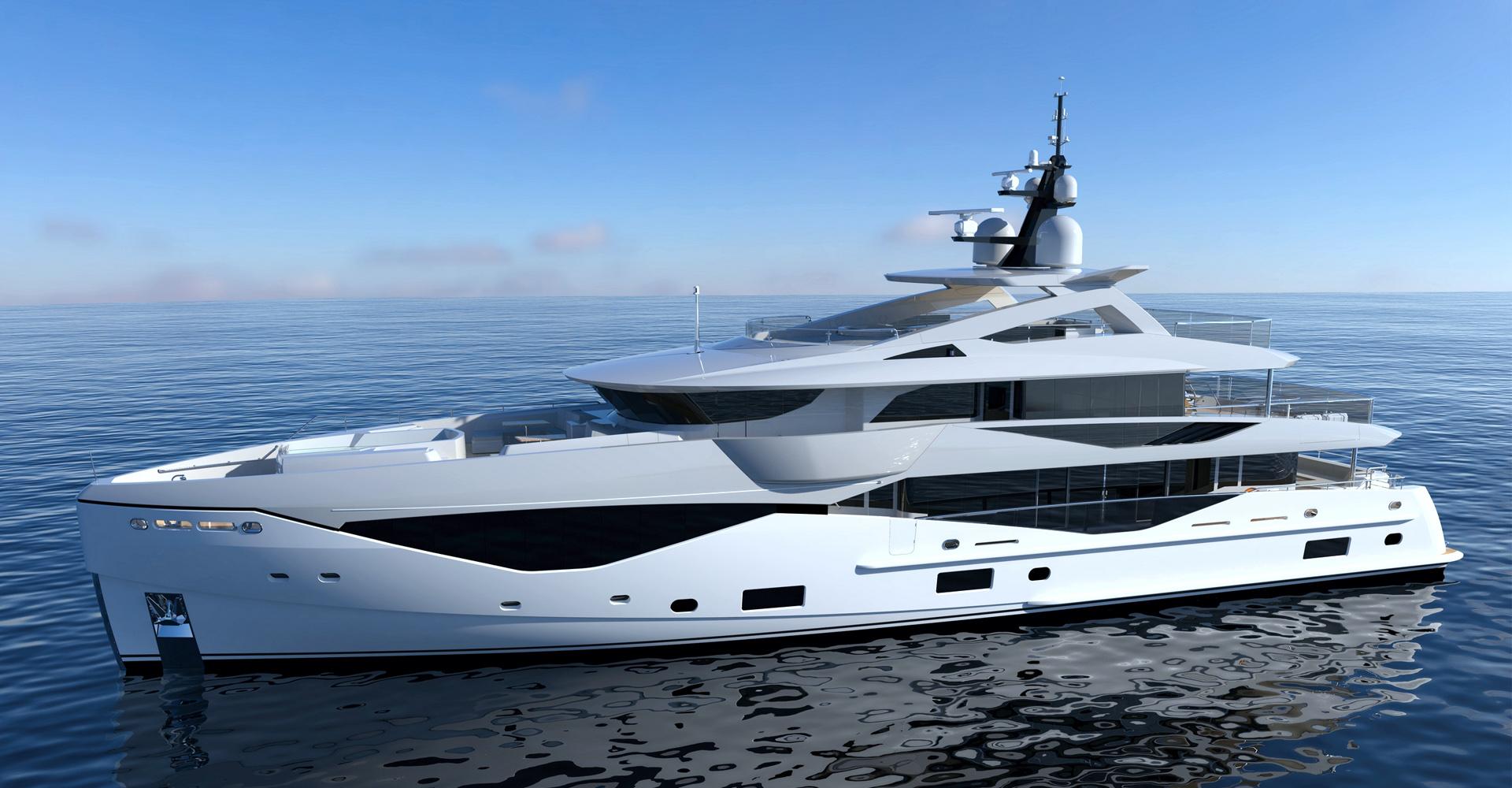 Profile render of the Sunseeker Oceanclub 42