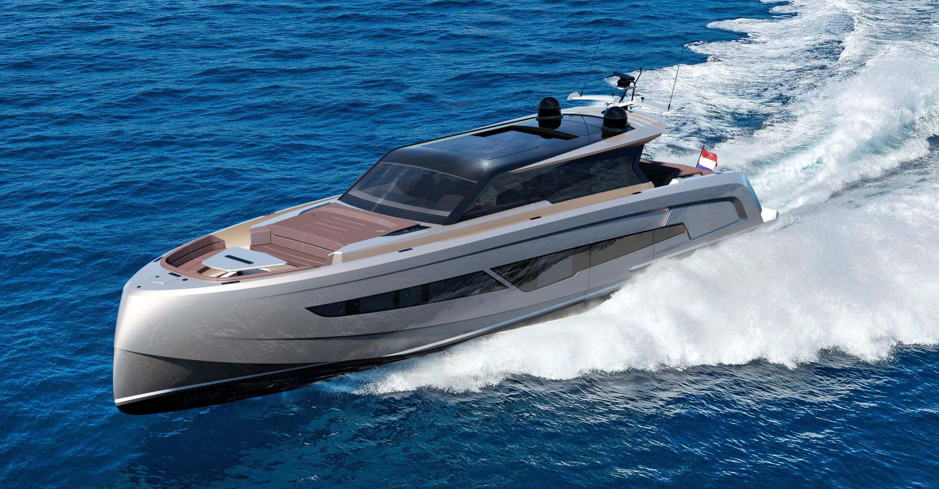 Vanquish 80 motor yacht exterior render