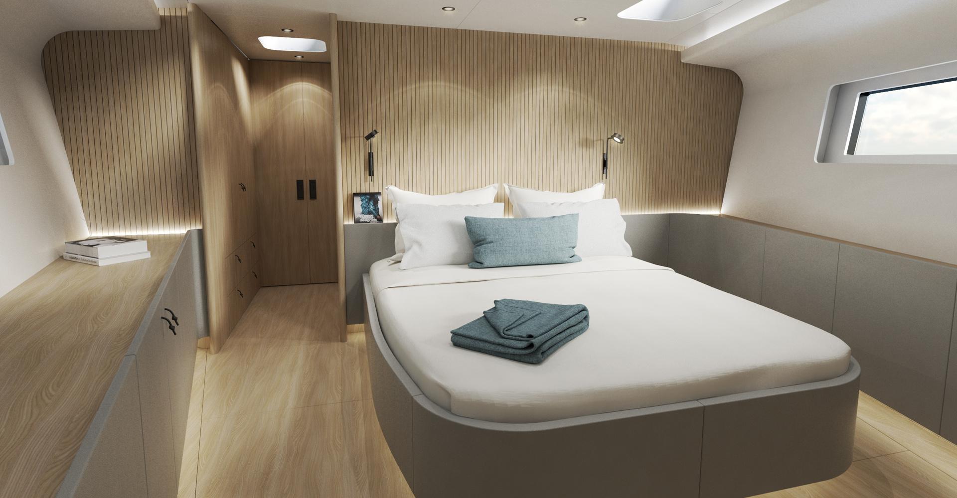 MS Yachtbau Y9 master cabin