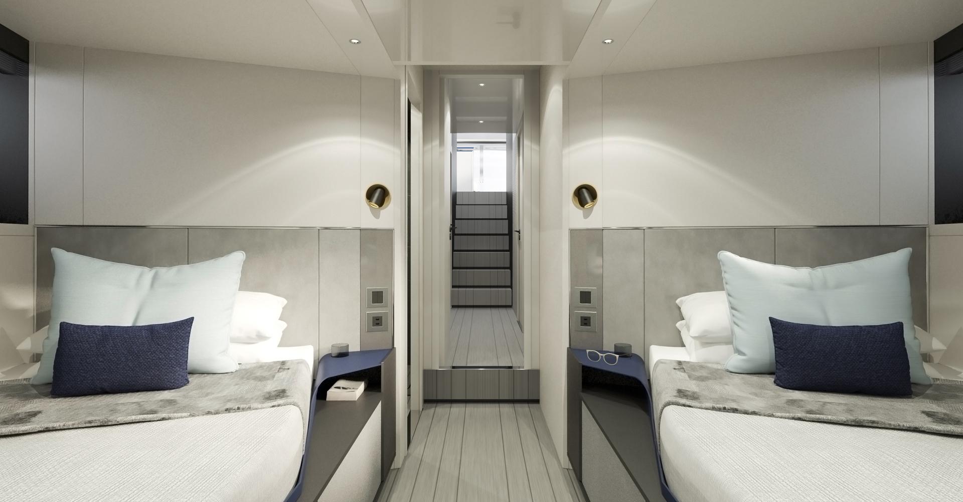 Vanquish 80 twin cabins