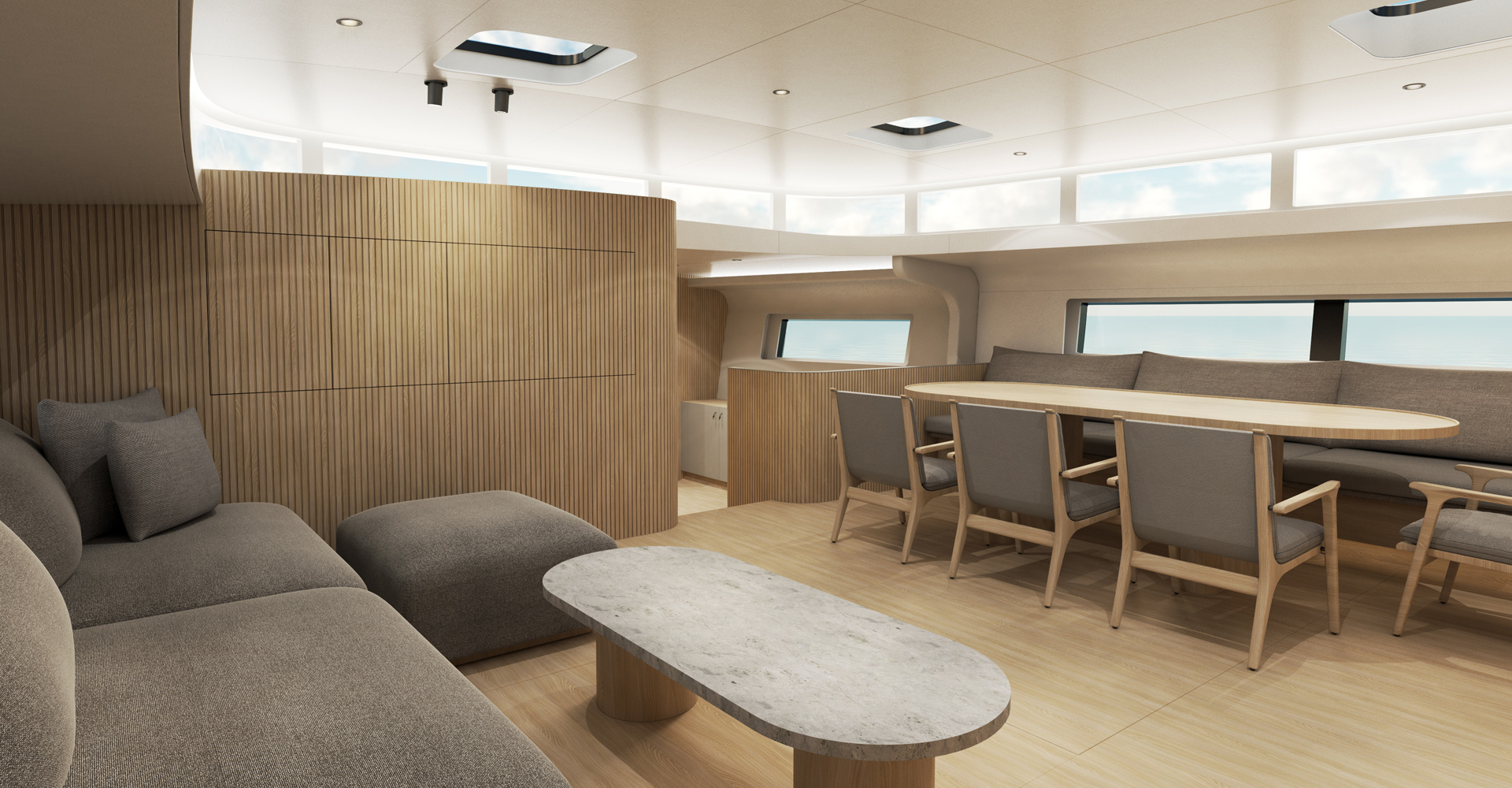 MS Yachtbau Y9 saloon and dining
