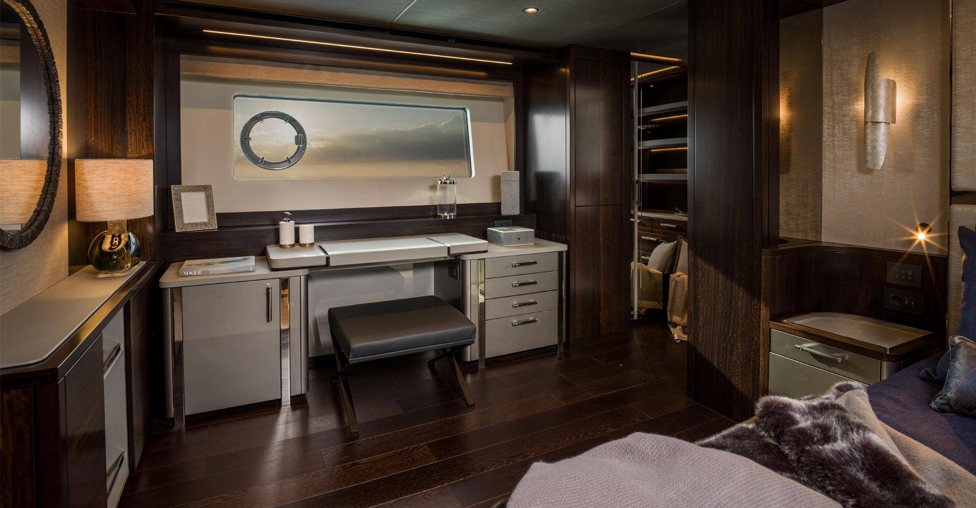 Interior design for Sunseeker 88 yacht