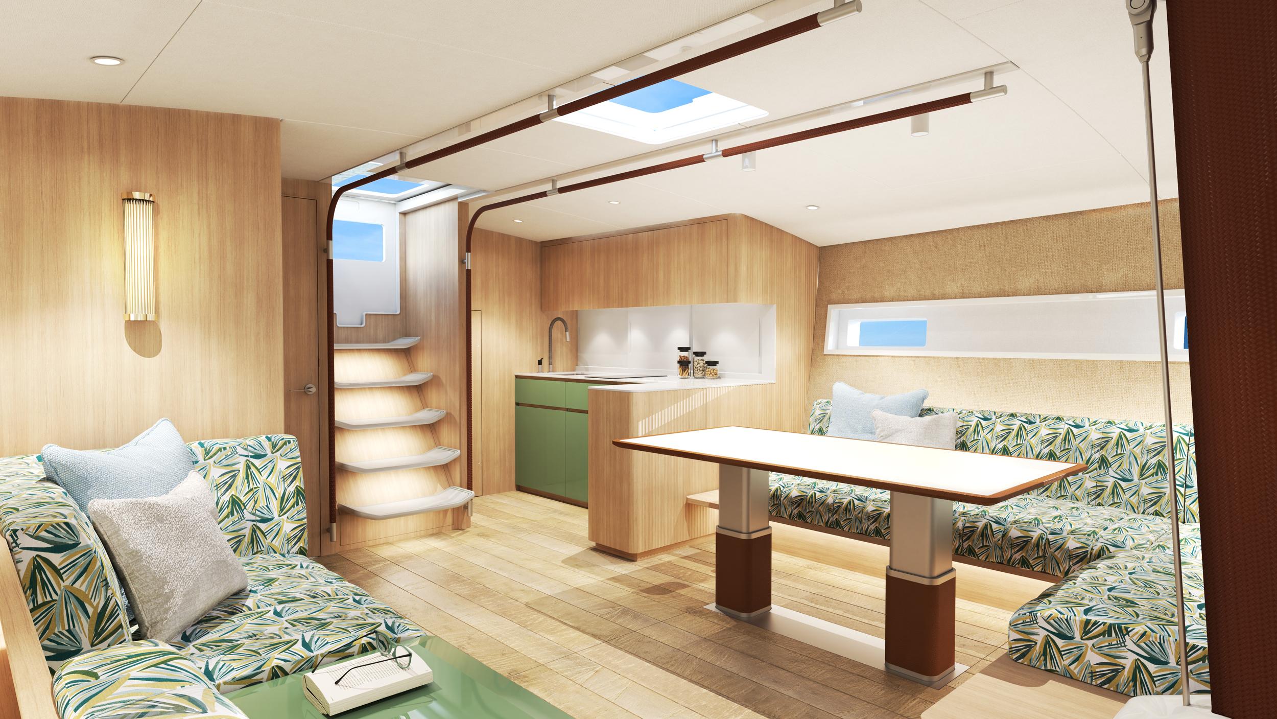 Baltic 68 Café Racer interior design